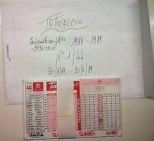 SCHEDINE TOTOCALCIO-CAMPIONATO COMPLETO DA 1 A 44  ANNO 1988/89