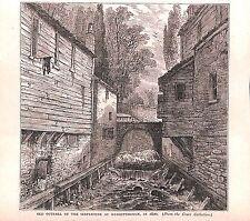 Punto de vertido. Serpentina. Knightsbridge. Londres. 1879. impresión Antiguo. Original históricos.