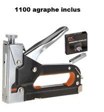 Agrafeuse Cloueuse metal pour agraphe de 4 à 14m+1100 Clous Agrafes Inclus neuf