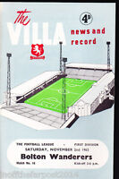 1963/64 ASTON VILLA V BOLTON WANDERERS 02-11-1963 Division 1
