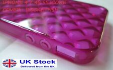 Rocketfish  PINK Diamond Soft Gel Silicone Case Cover for iPhone 4 RF-WR1003E