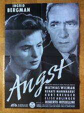 Angst (Kinoplakat '70er) - Ingrid Bergman / Roberto Rossellini
