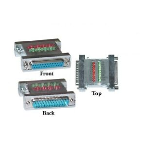 Serial Check Tester With LEDs DB25 Male to DB25 Female 31D3-42200