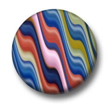 Colours 1 Inch / 25mm Pin Button Badge Pattern Design Northern Lights Waves Cute