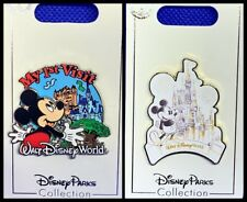 Disney Parks 2 Pin lot My First Visit to Walt Disney World + Mickey and castle