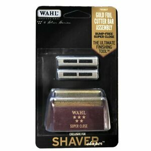 New Wahl Shaver/Shaper Super Close Gold Foil and Cutters 7031-100
