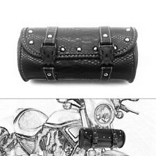 Motorcycle SaddleBag Front Fork Tool Bag Pouch Luggage PU Leather For Touring