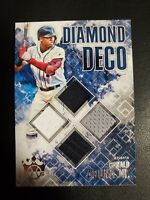 🔥🔥2019 Ronald Acuna jr Player Used 4 Patch Dimond Deco 🔥🔥