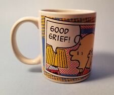 """Preowned Gibson Peanuts Mug Cup CHARLIE BROWN """"Good Grief"""" Vtg 2011"""