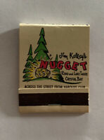 Jim Kelley's Nugget Casino Crystal Bay Lake Tahoe Reno Nevada Vintage Matchbook