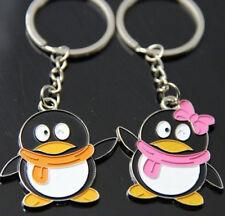 FD1079 Happy Penguin Lover Keychain Keyring Keyfob Key Ring ~1 Pair 2pcs~ :)