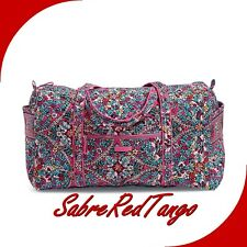 NWT VERA BRADLEY QUILTED ICONIC LARGE TRAVEL DUFFEL FLORAL KALEIDOSCOPE