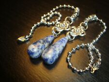 Natural Stone Sodalite Ceiling Fan Pull Chains Light/Lamp Pulls