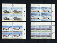 (SBAZ 138) Jamaica 1999 MNH BL OF 4 UPU 125 Anniversary AIRMAIL MAIL SHIPS PLANE