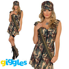 Sexy Army Girl Soldier Costume Uniform Womens Ladies Military Fancy Dress Outfit