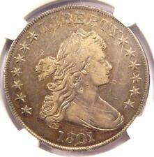 1801 Draped Bust Silver Dollar $1 BB-213 - Certified NGC VF Details - Rare Coin!