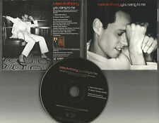 MARC ANTHONY You Sang to me RARE RADIO EDIT PROMO DJ CD Single w/ PRINTED LYRICS