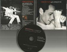 MARC ANTHONY You Sang to me RARE RADIO EDIT PROMO DJ CD Single w/ PRINTED LYRICS