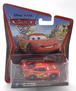 Disney Pixar Cars Lightning McQueen with Racing Wheels Diecast Toy Car