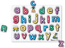 Melissa & Doug See Inside Wooden Peg Puzzle Jigsaw Alphabet Toddler Toy BNIP