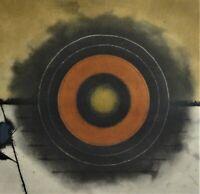 """Tuvia BEERI (1929) Farbradierung: """"Noyes""""-? - ZIELSCHEIBE-? abstrakt"""