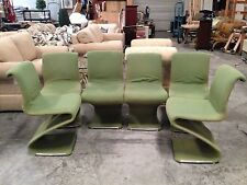 Set of 6 Vintage MCM Mid Century Modern Z Chairs by Rima Linea Disegno - Italy