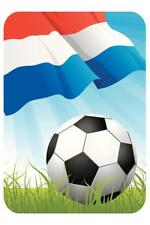 Netherlands Soccer Ball and Flag Sports Poster 24x36 inch