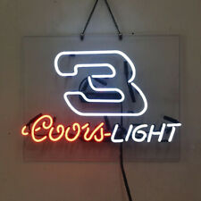Real Glass Display Neon Signs coors light 3 19X15-038