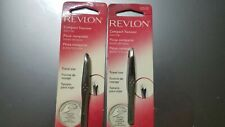 (2 PACK) Revlon Compact Tweezer Slant Tip 32510 - New - FREE SHIPPING
