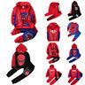 Kids Boy Girl Spiderman Tracksuit Hooded Hoodie Sweatshirt Jacket Coat Pants Set