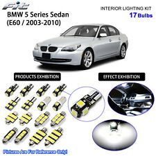 17 Bulbs White LED Interior Dome Light Kit For 2003-2010 BMW 5 Series E60 Sedan