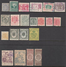 Spain pre-1945 Revenues hi val selection 20 diff stamps cv $87