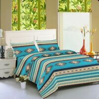 "Bed Sheets Southwest Aztec 4 piece Tribal Set Soft Microfiber 16"" Deep Pockets"