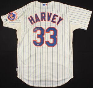 Matt Harvey Signed Mets Authentic Majestic Jersey ( MLB LOA ) Former N Y Ace