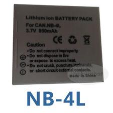 Battery Pack for NB-4L NB4L Canon IXUS55 IXUS60 IXUS65 IXUS 65 30 40 50 55 60