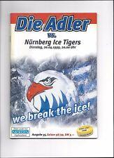 PLAY OFF FINALE: ADLER MANNHEIM - NÜRNBERG ICE TIGERS 20.04.1999, Programm 98/99
