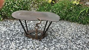 Bespoke Iron Industrial Coffee Table With Chain Decoration Media Stand.
