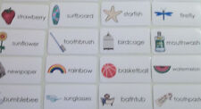 23 Compound Words Flash Cards.  Educational learning activity for children.