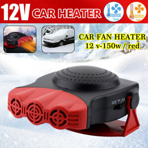 3-Outlet Fans 2 in 1 Cooling /& Heating Car Fan Vehicle Electronic Air Heater Defrost 12V 150W Automobile Windscreen Fan Demister Defroster Showvigor Portable Car Heater Defogger