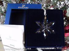 2015 NIB SWAROVSKI ANNUAL LITTLE CHRISTMAS ORNAMENT STAR/SNOWFLAKE #5100235