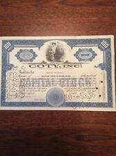 Cody Inc Dated 1925 100 Shares Invalid  SHARE CERTIFICATE