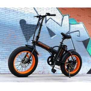 "20"" 13Ah 500W Folding Electric Fat Tire Bike Beach Bicycle City Ebike LCD"