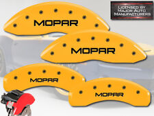 "2007-2010 Dodge Nitro Front + Rear Yellow MGP Brake Disc Caliper Covers ""Mopar"""