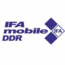 1 IFA mobiele DDR Aufkleber 22x9cm IFA Aufkleber  DDR Trabi Ossi Anhänger GDR F