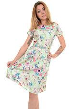 Cap Sleeve Floral Tea Dresses