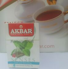 Ceylon Tea Akbar Premium Quality Moroccan Mint Herbal Infusion 20 Pyramid Bags