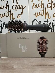 Lange Le Volume 2-in-1 Volumizing Brush Dryer Black & Rose Gold 75mm New