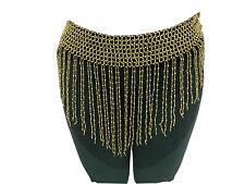 Gold Belly Dance Hip Scarf Belt Skirt