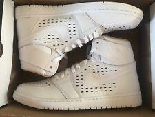 Nike Air Jordan 1 Retro High Basketball Trainers Size UK 12 Mens White New