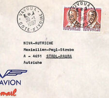 CA281 1987 Ivory Coast SUPERB *Vavoua* Airmail Cover Austria MISSIONARY VEHICLES
